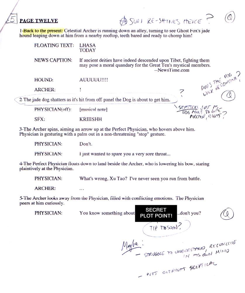 comic book script template Success
